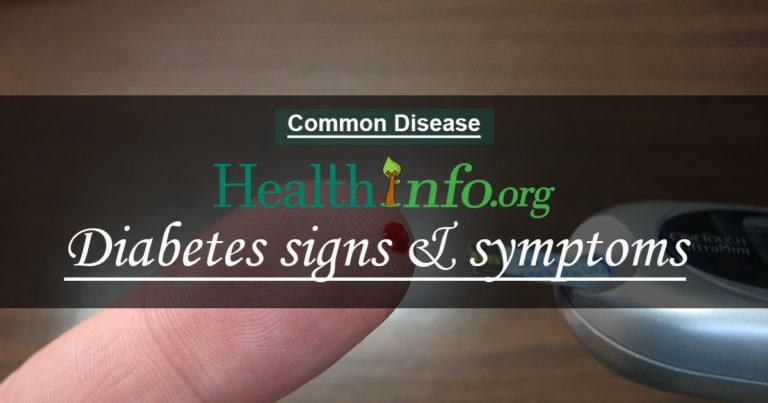 Diabetes signs & symptoms
