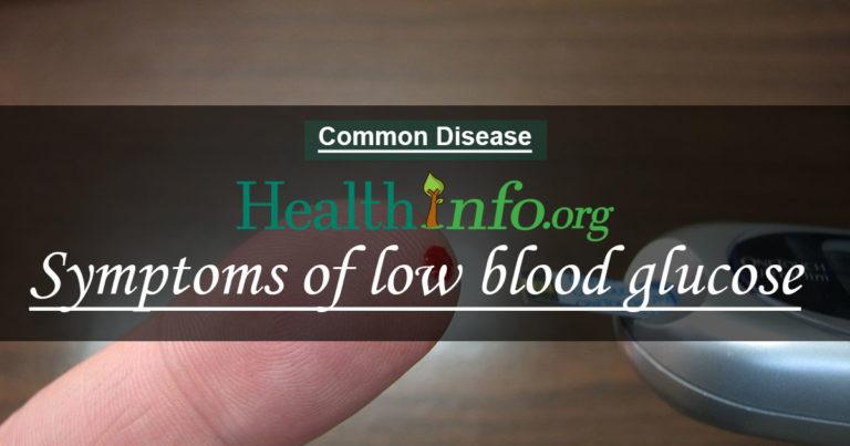symptons of blood sugar
