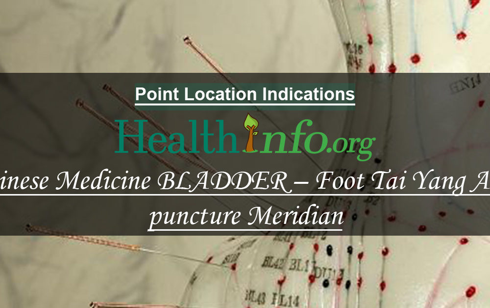 Chinese Medicine BLADDER – Foot Tai Yang Acupuncture Meridian