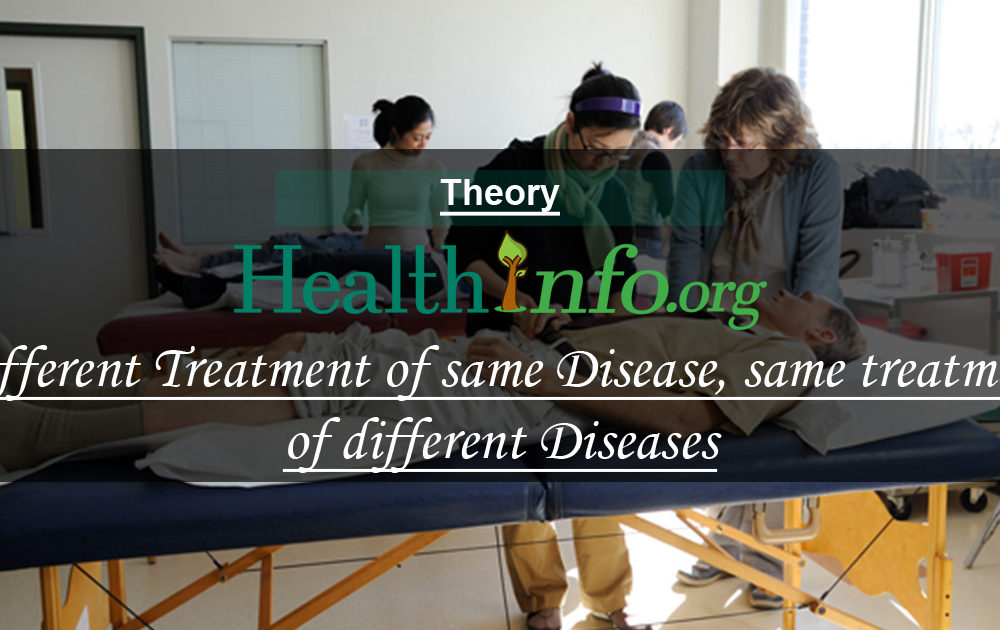 Different Treatment of same Disease, same treatment of different Diseases