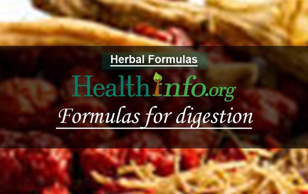 Formulas for digestion