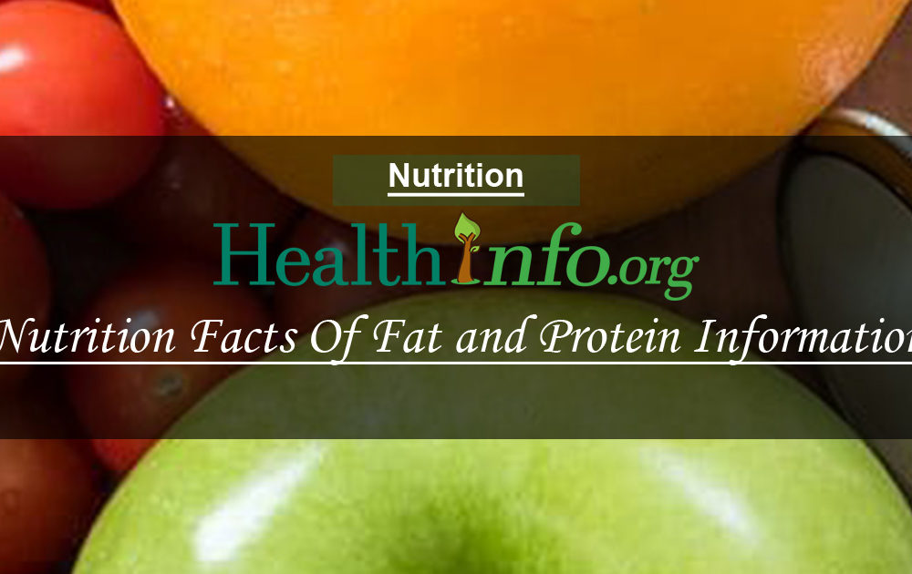 Nutrition Facts Of Fat and Protein Information