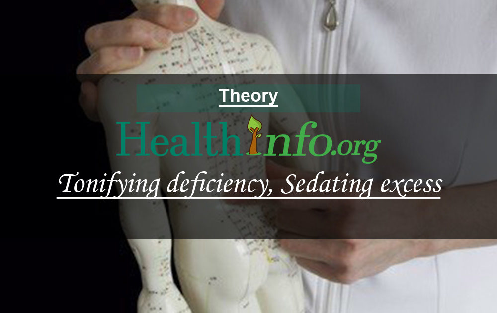 Tonifying deficiency, Sedating excess