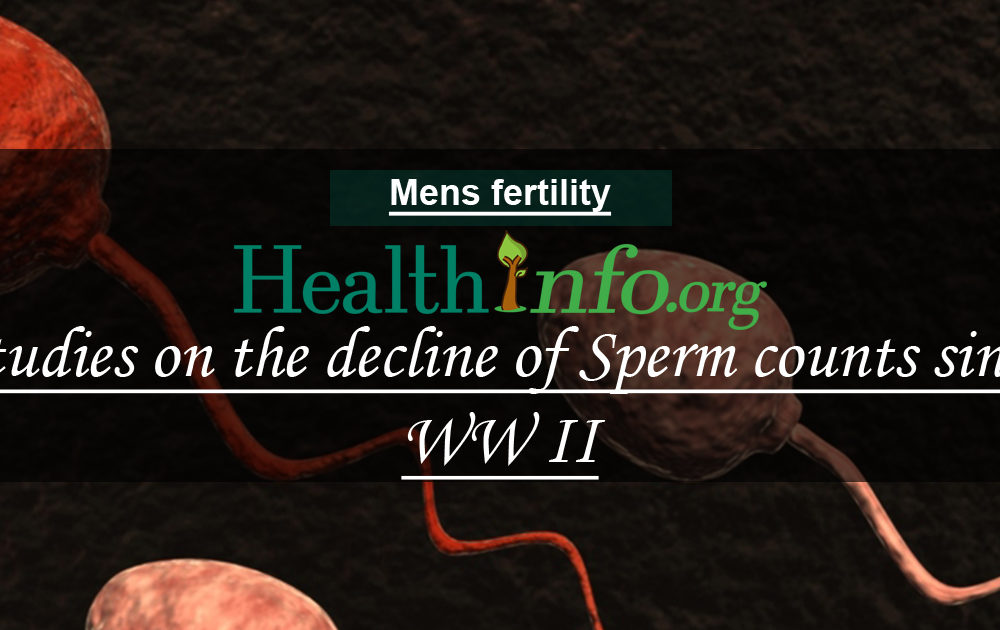 Studies on the decline of Sperm counts since WW II